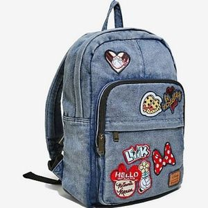 b6577a173d5 Loungefly Bags - Loungefly Disney Minnie Mouse Denim Patch Backpack